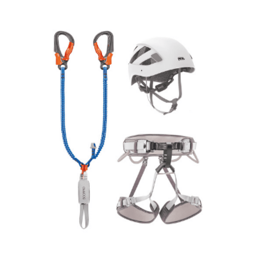 elementos de amarre petzl kit via ferrata eashook